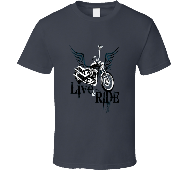 Live To Ride Cool Motorbike T Shirt