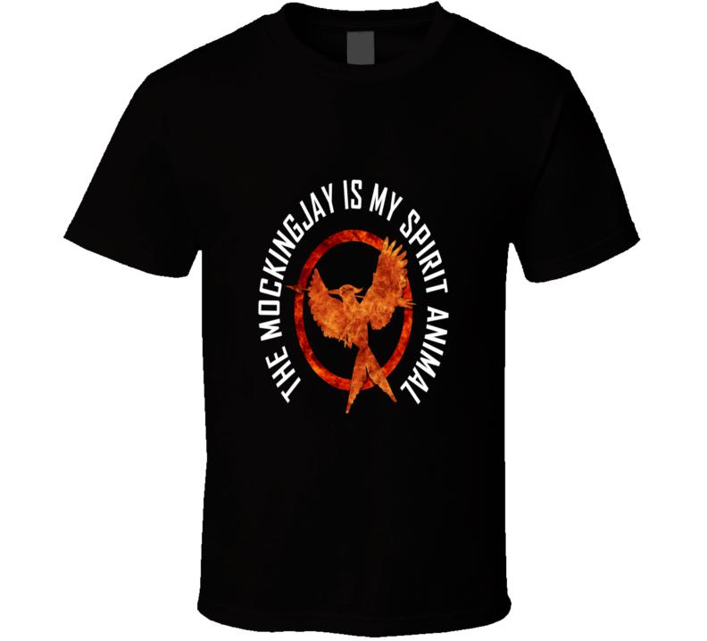 MockingJay Is My Spirit Animal Hunger Games TV Show Cool T Shirt