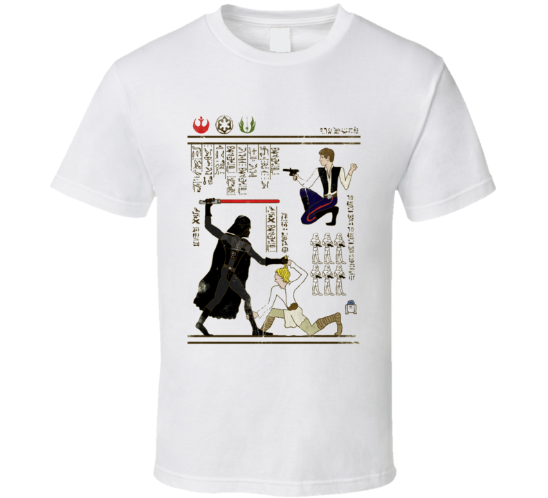 Starwars The Force Egyptian Hieroglyph Writing T Shirt