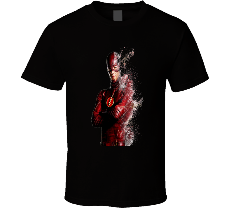 The Flash Barry Allen Disintegrating Cool Superhero T Shirt
