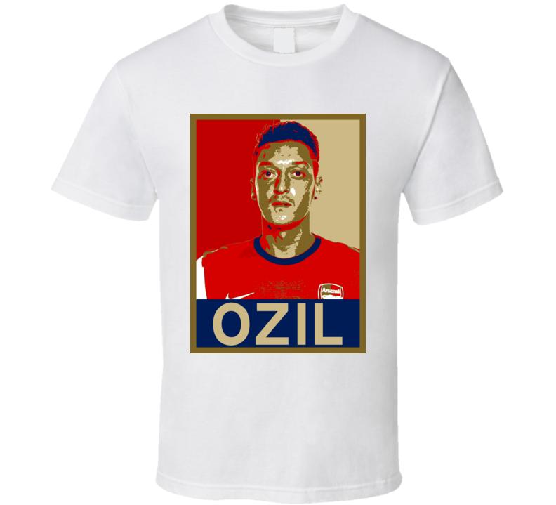 Obama Hope Poster Style Arsenal Mesut Ozil Midfeilder Hope T Shirt