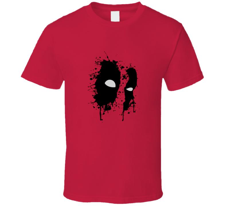 Deadpool Wade Wilson Mask Graphic Design Cool Marvel Superhero T Shirt