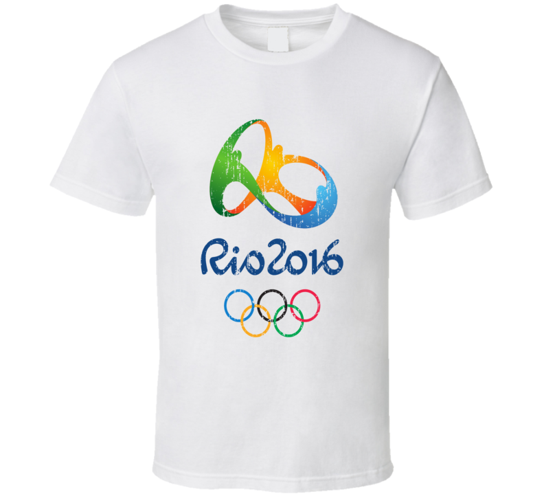 Rio 2016 Olympics Distressed Logo T Shirt