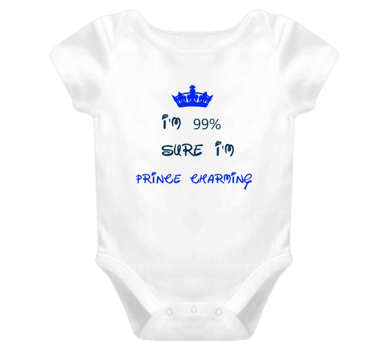99 Percent Sure I'm Prince Charming Cool Disney Character Cartoon T Shirt