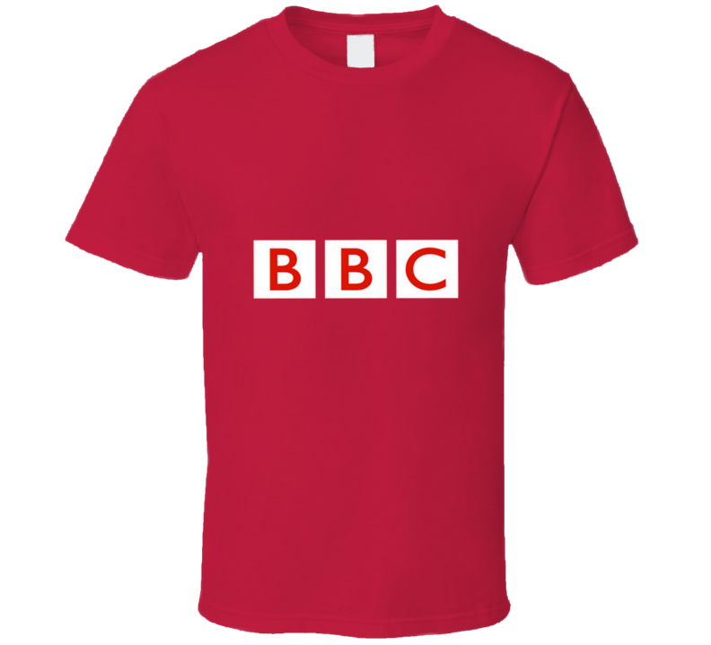 BBC News British Channel Cool Old School Logo T Shirt
