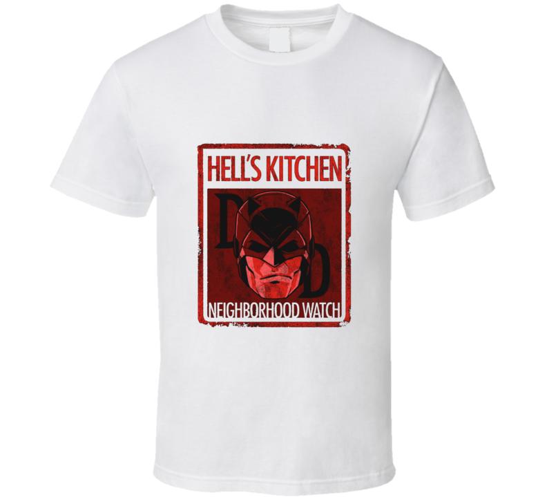 Daredevil Hells Kitchen Neighborhood Watch Murdock Netflix Show Grunge Look T Shirt