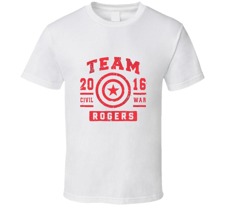 Team Captain America Steve Rogers Avengers Civil War Cool T Shirt
