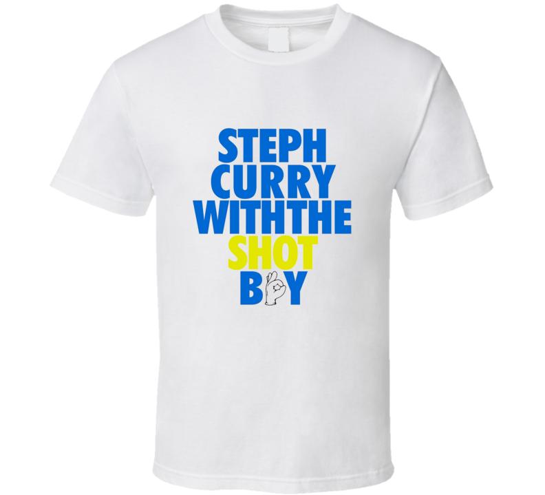 Steph Curry With The Shot Boy Steven Golden State Warriors Basketball T Shirt