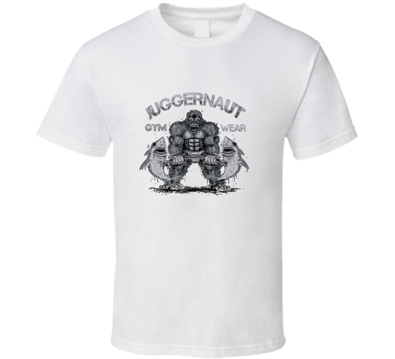Juggernaut Gym Cool Gorilla Workout Shark T Shirt