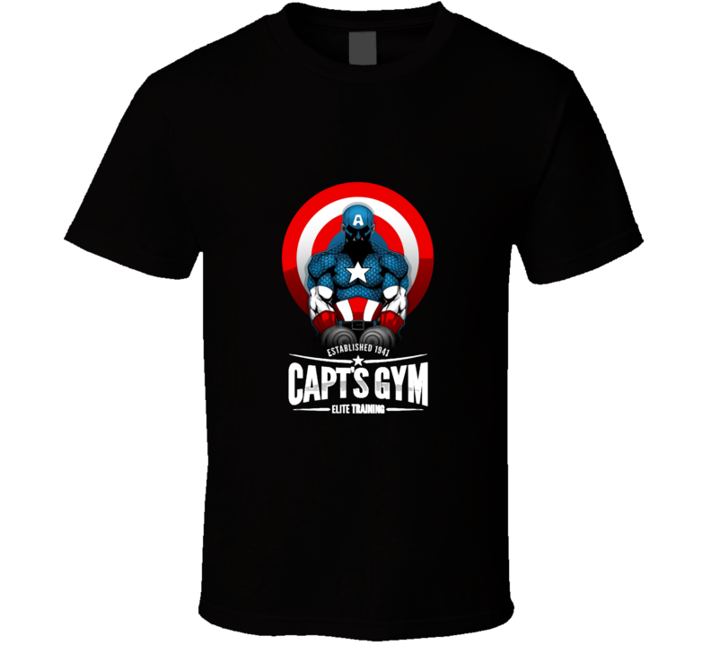 Captain America Gym Muscle Workout Cool Fitness T Shirt