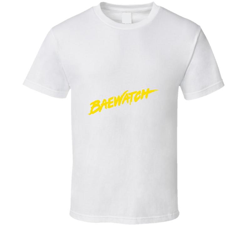 Baewatch Baywatch The Rock TV Show Cool Logo T Shirt
