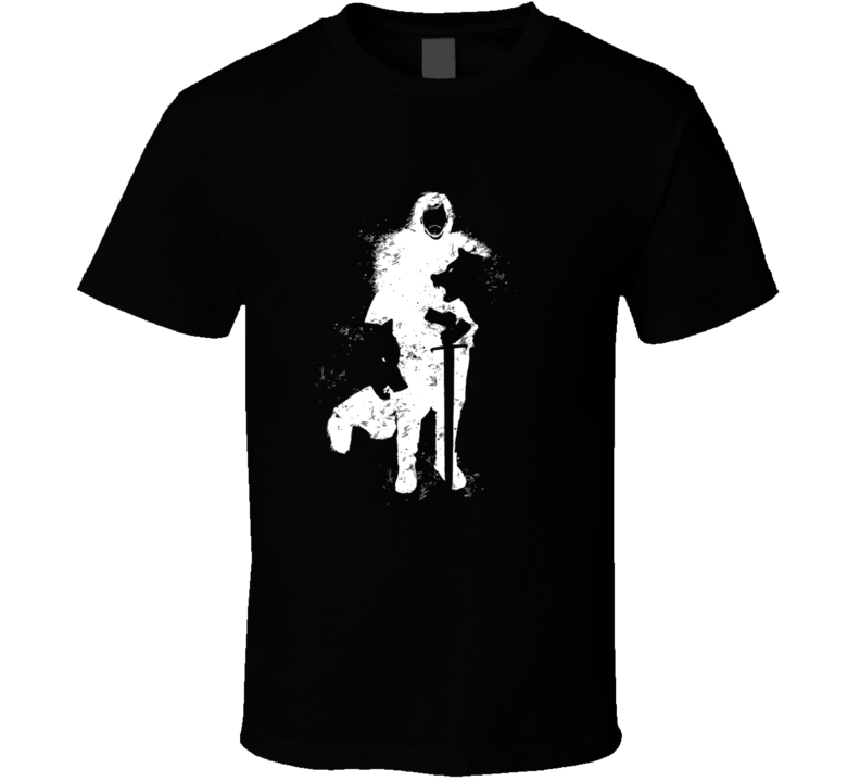 Jon Snow Game Of Thrones Wolves Cool Graphic Image T Shirt