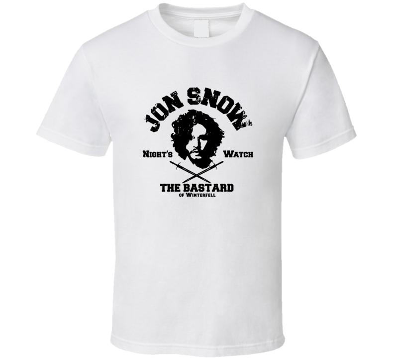 Jon Snow Bastard Of Winterfall Night's Watch Funny T Shirt