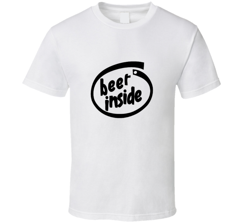 Beer Inside Drinking Alcohol Cool T Shirt