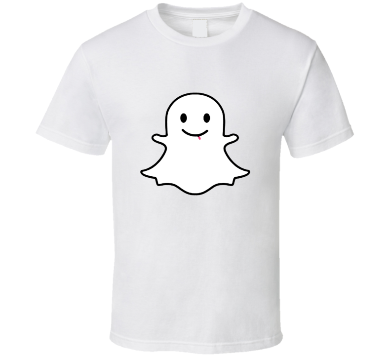 Snapchat Ghost Silly Face Cool Social Media T Shirt