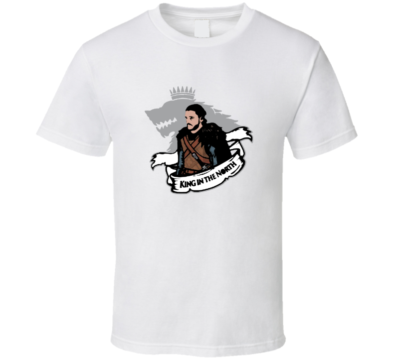 Jon Snow King In The North Game Of Thrones TV Show T Shirt