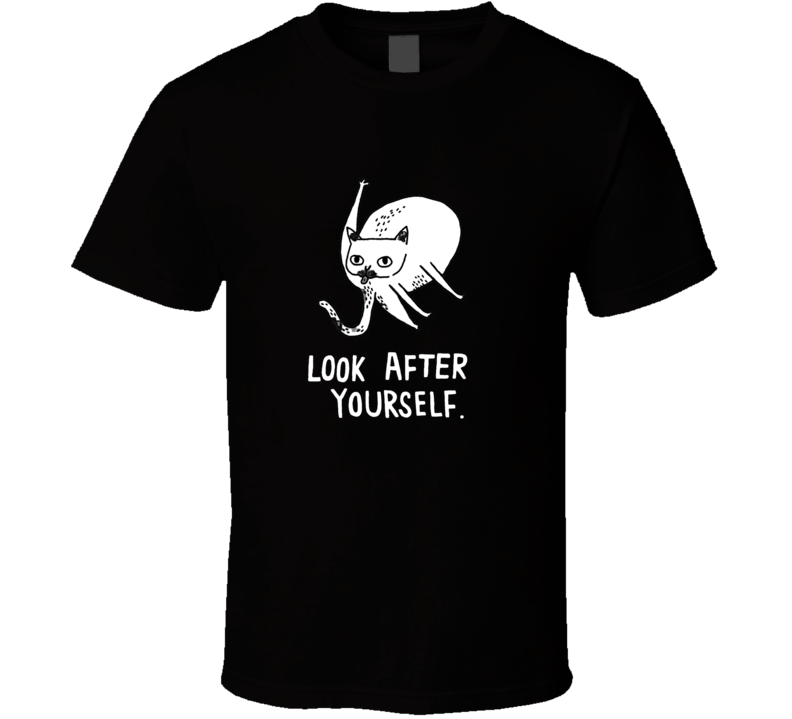 Look After Yourself Funny Cat Grooming Licking butt T Shirt