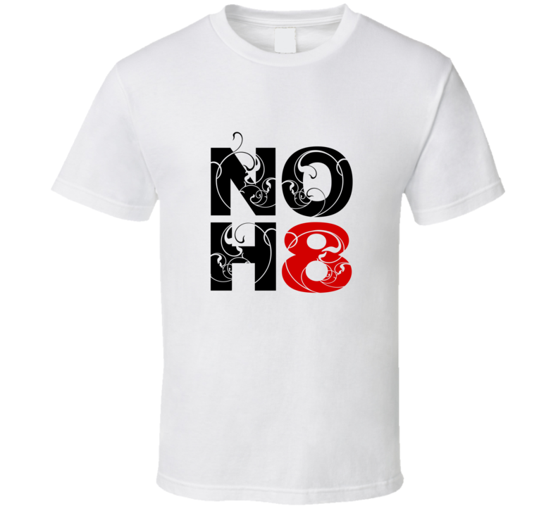 No H8 Support Peace T Shirt
