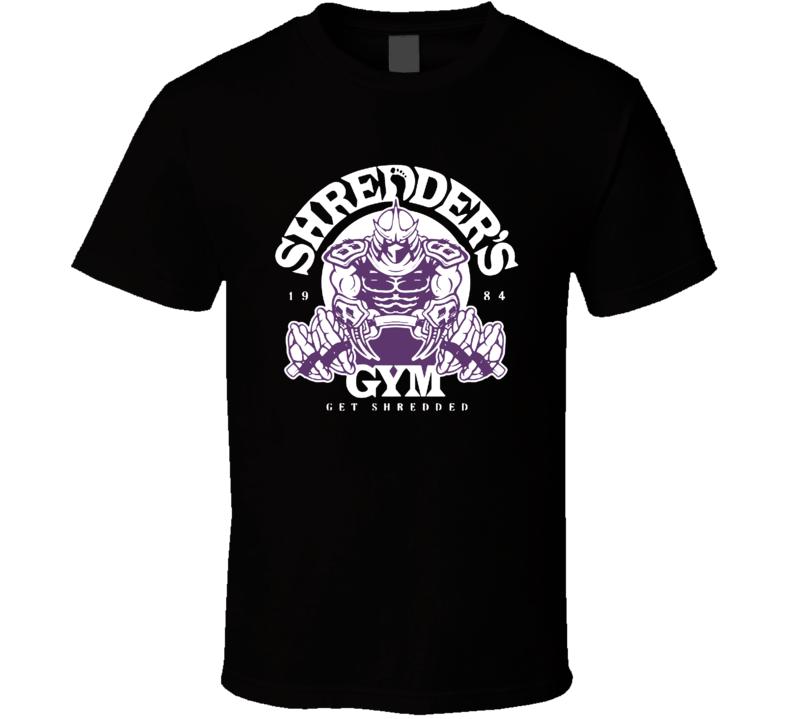 Shredder's Gym TMNT Get Shredded Cool Gym Muscle Movie T Shirt