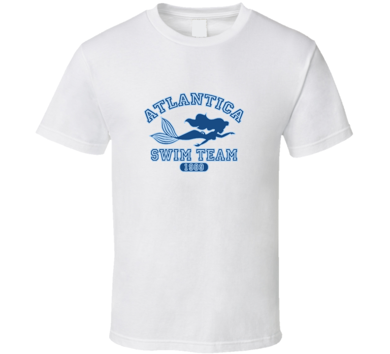 Little Mermaid Atlantic Swim Team Atlantis Cool Disney Show T Shirt