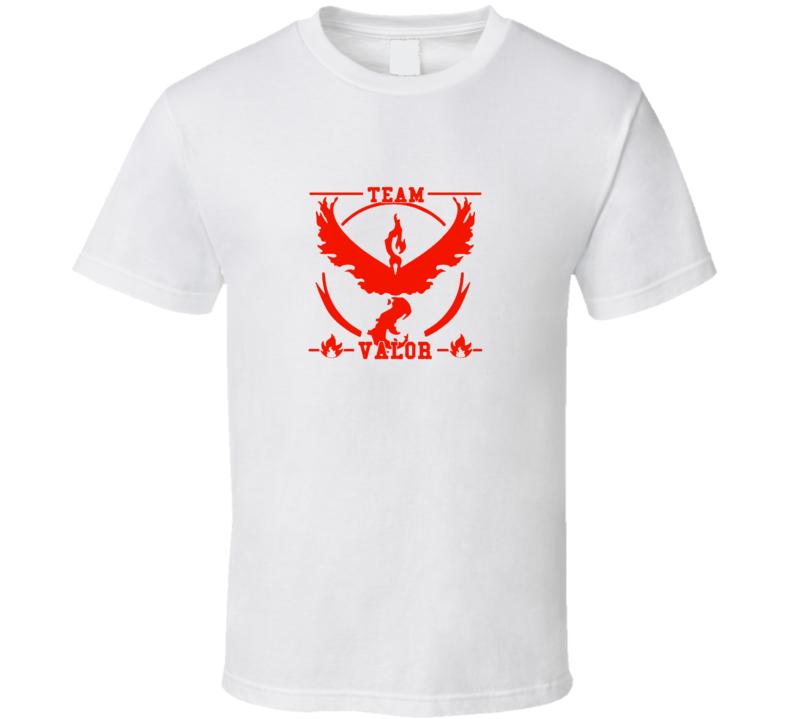 Team Valor Legenday Pokemon Voltres Cool Pokemon Go T Shirt