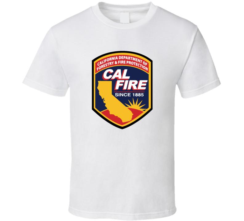 Cali Fire Logo California Department T  Shirt