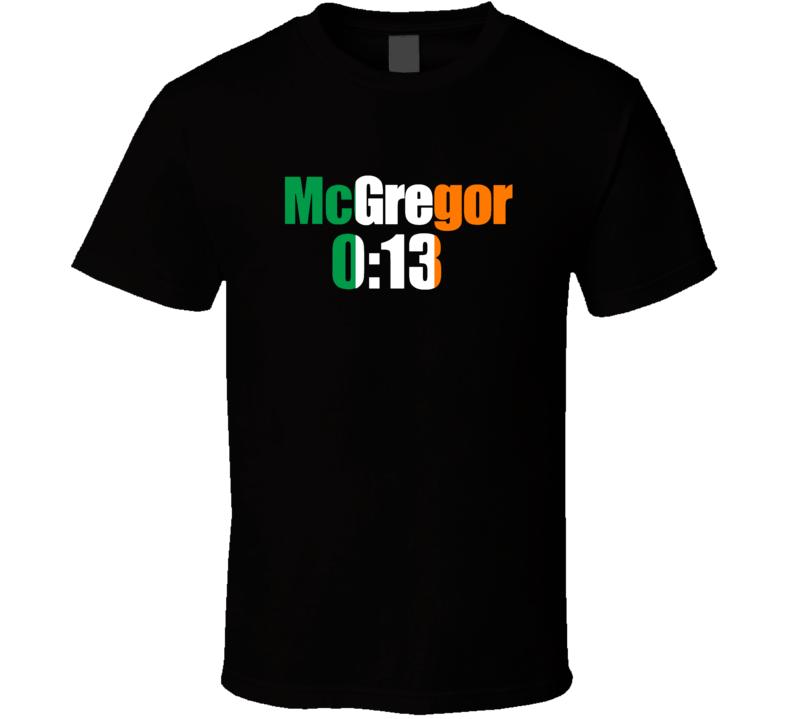 Conor Mcgregor 0:13 Ufc Champion Mma Cool T Shirt