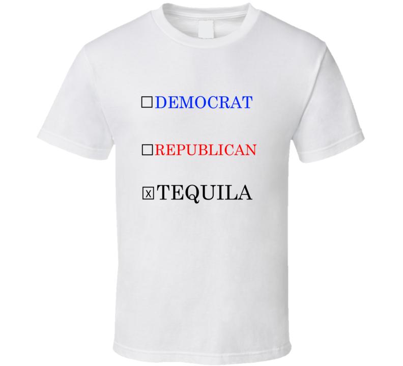 Democrat Republic Tequila Funny T Shirt