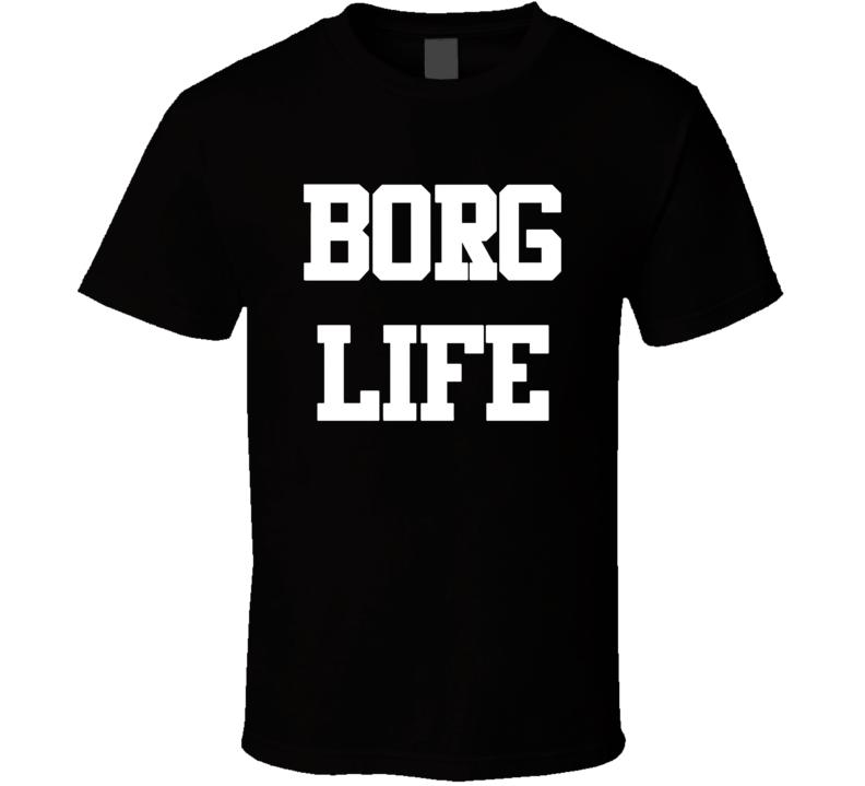 Borg Life Justice League Cyborg T Shirt