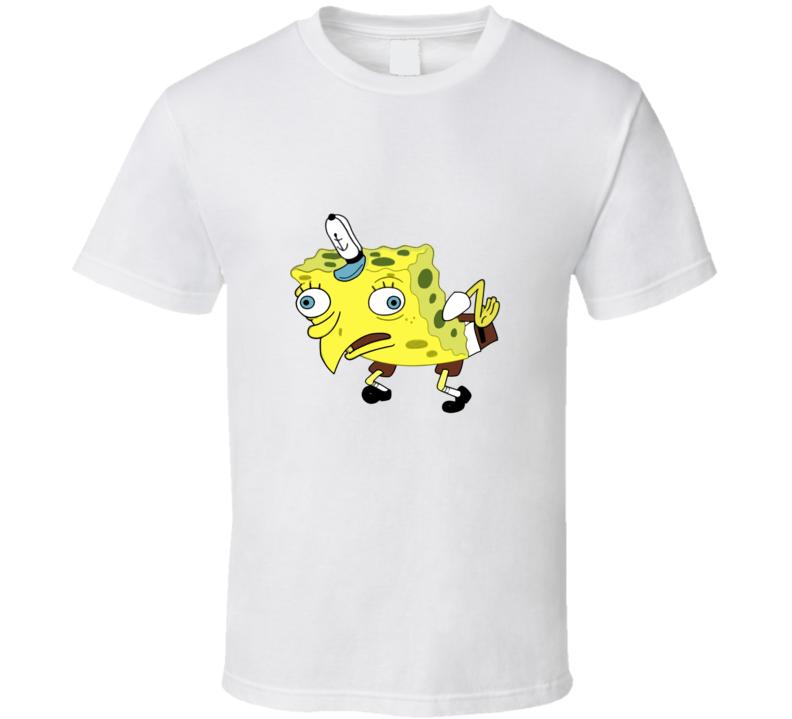 Mocking Spongebob Squarepants Funny Cartoon T Shirt