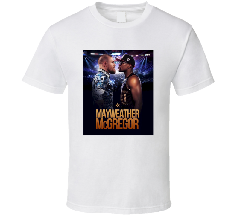 Floyd Mayweather Vs Conor Mcgregor Fight Match Poster T Shirt