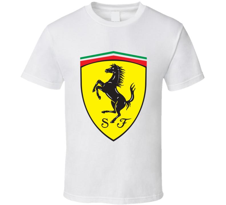 Ferrari Car Logo T Shirt