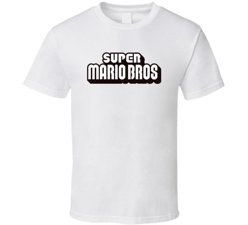Super Mario Bros Video Game Logo T Shirt