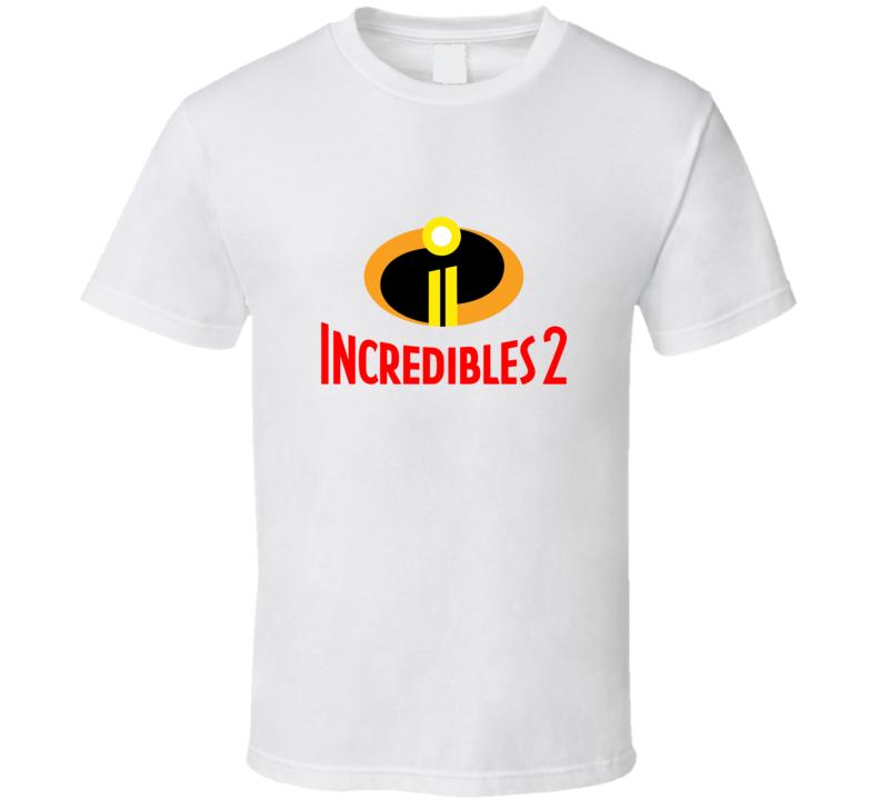 Incredibles 2 Pixar Movie Logo T Shirt