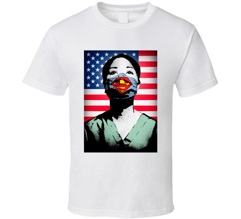Super Nurse Corona Virus United States Healthcare Worker T Shirt