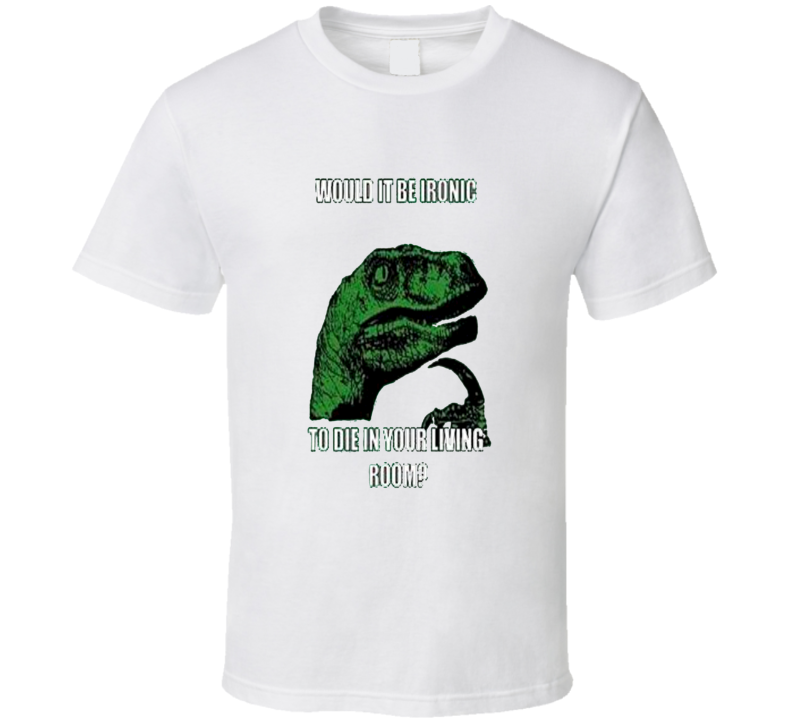 Thinking Meme Dinosaur Ironic T Shirt