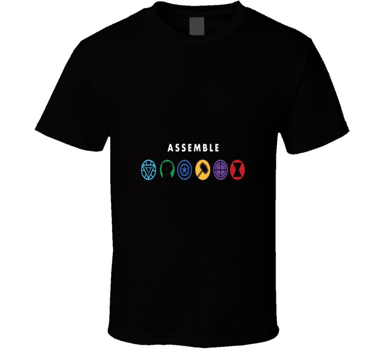 Avengers Assemble Superheroes Logo T Shirt
