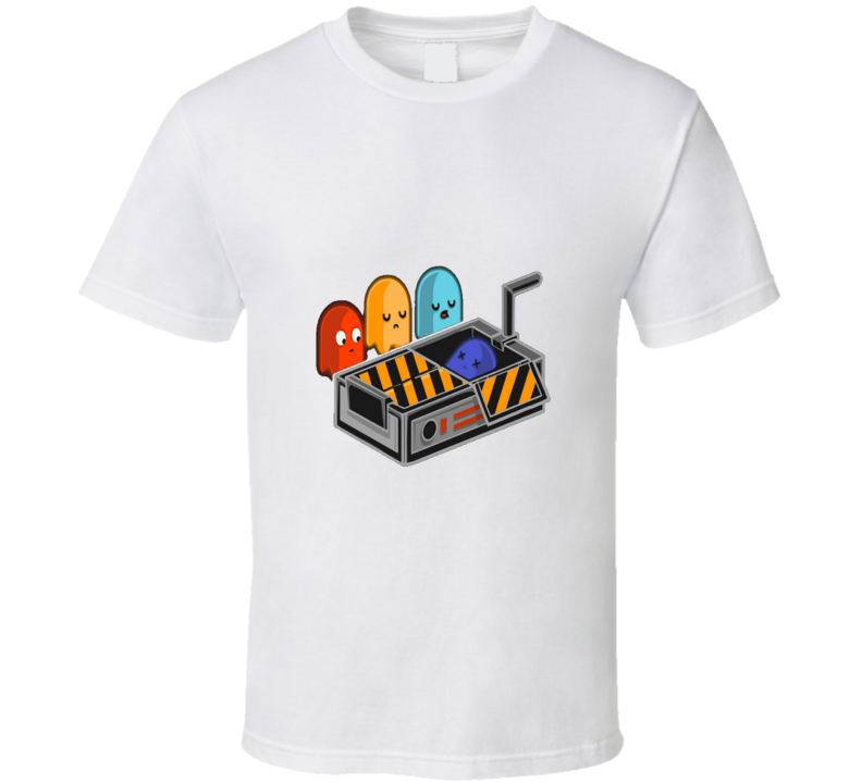 Pacman Ghost Busted Funny Classic T Shirt