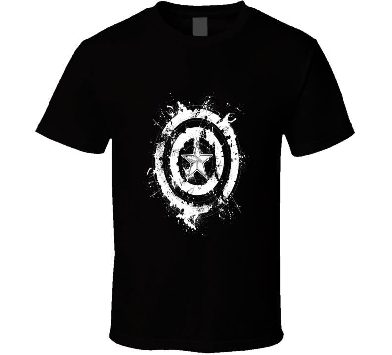 Captain America Freedom Rising Superhero Logo T Shirt