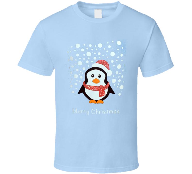 Merry Christmas Charity Penguin Festive COVID T Shirt