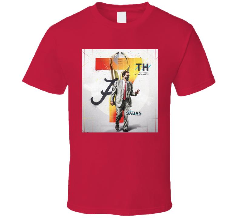 Nick Saban Bama Football National Championship Fan T Shirt