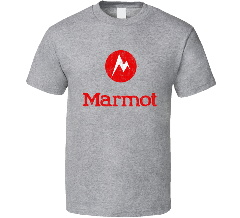 Marmot Camping Gift Cool Popular Campers Worn Look T Shirt