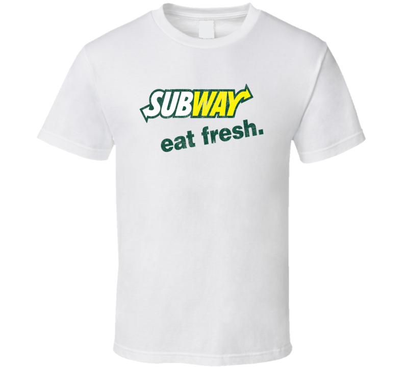 Eat Fresh Popular Food Tag Line Funny Worn Look Gift T Shirt
