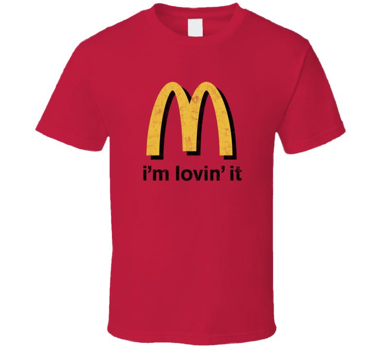 I'm Loving It Popular Food Tag Line Funny Worn Look Gift T Shirt