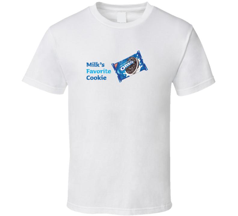 Milk's Favorite Cookie Popular Food Tag Line Funny Worn Look Gift T Shirt