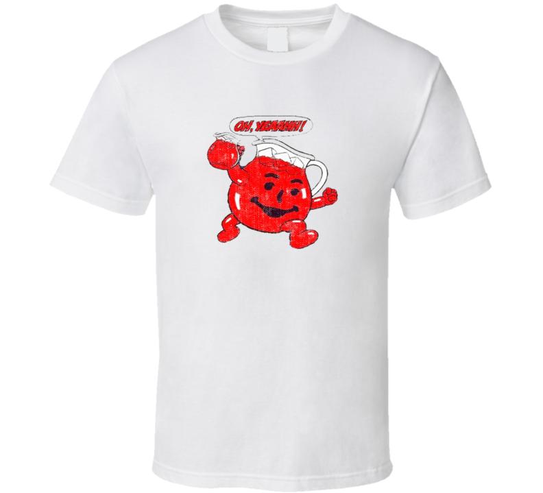 Oh Yeah Kool Aid Popular Food Tag Line Funny Worn Look Gift T Shirt