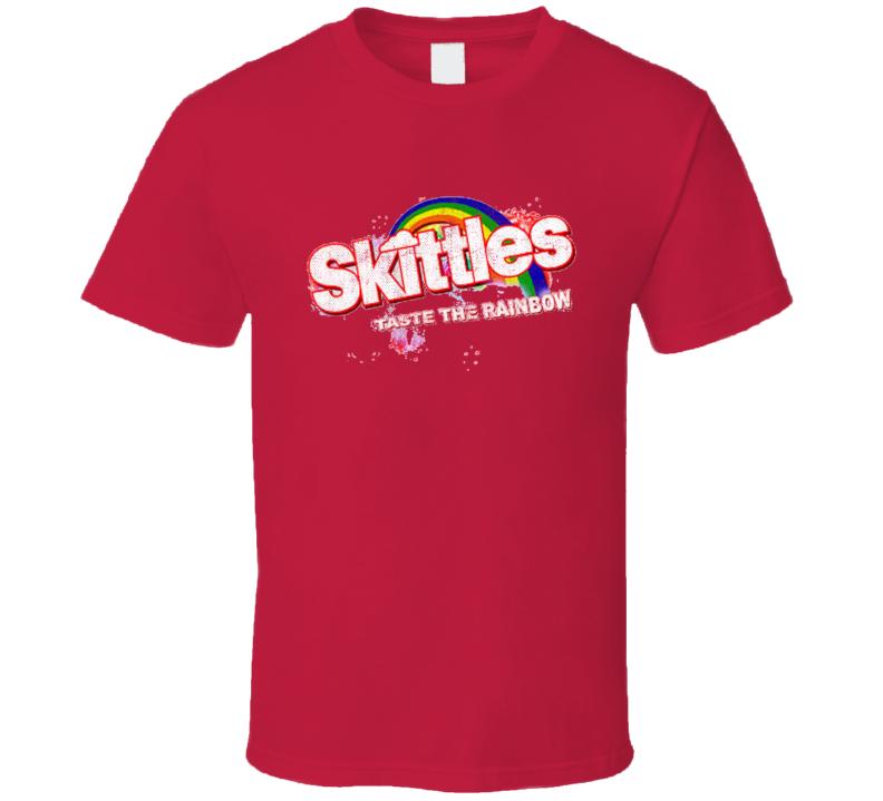 Taste The Rainbow Popular Food Tag Line Funny Worn Look Gift T Shirt