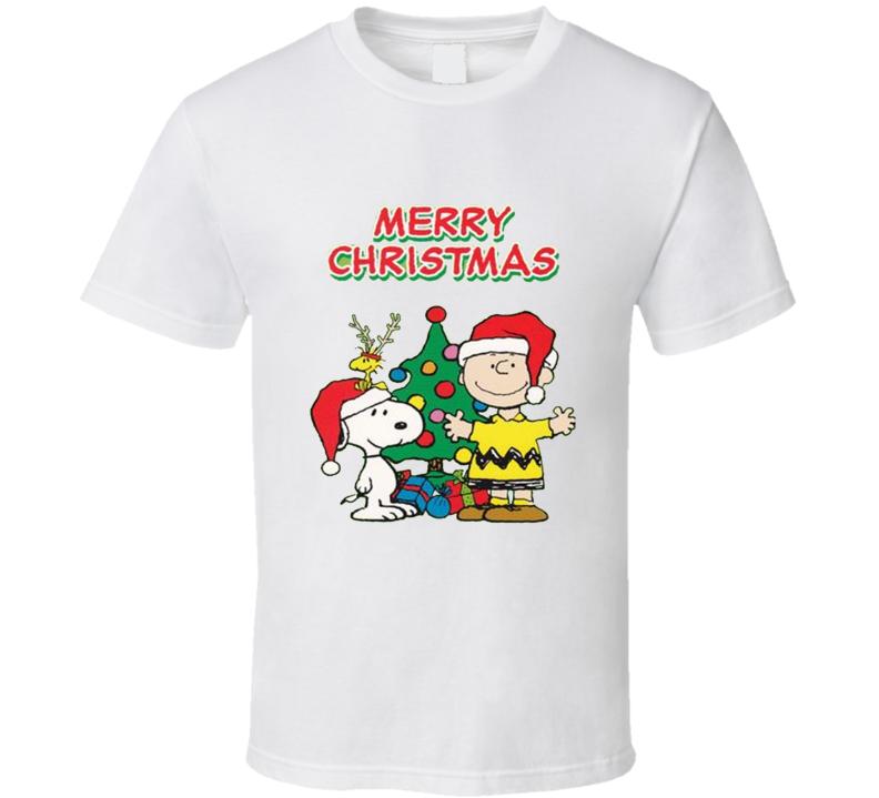 Charlie Brown Merry Christmas T shirt