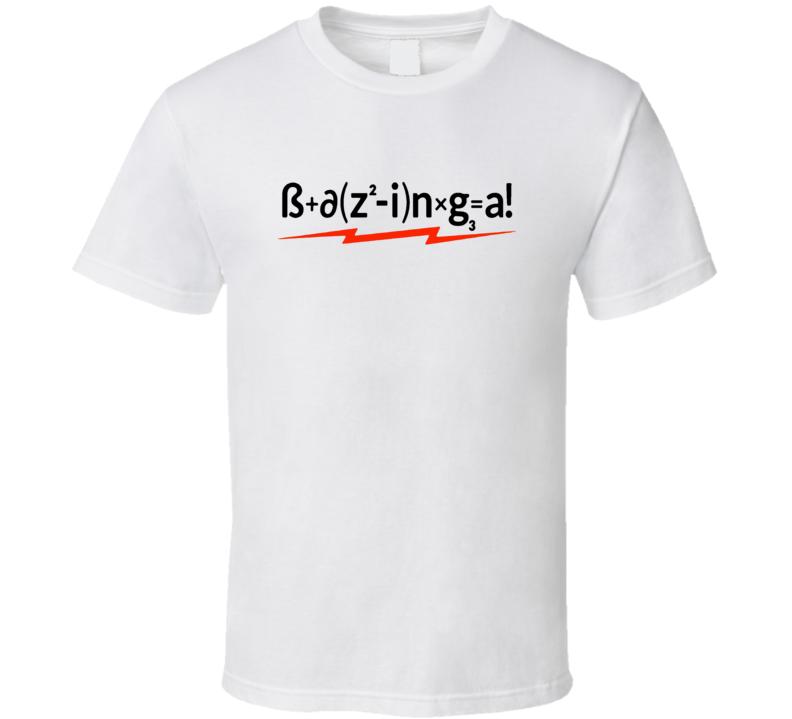 Bazinga Sheldon Cooper The Big Bang Theory T shirt