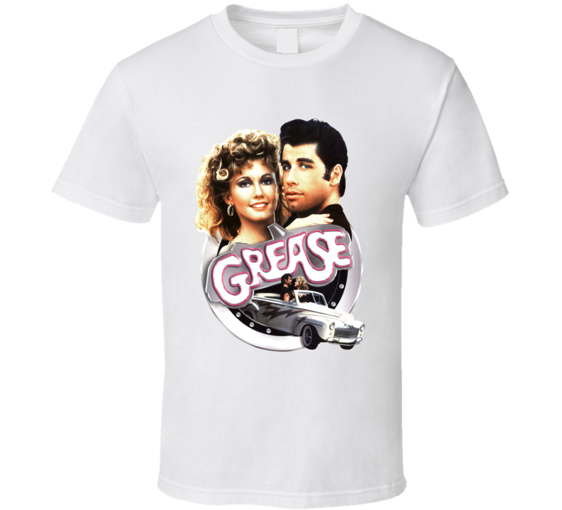 Grease Danny And Sandy Greased Lightning Movie Fan T shirt